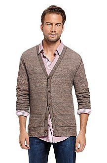 V-Neck Button Front 'Worth' Sweater