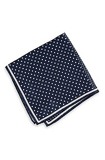 'Pocket Square 33x33' | Silk Polka Dot Pocket Square
