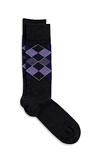 'RS Design US' | Cotton-Modal Argyle Socks