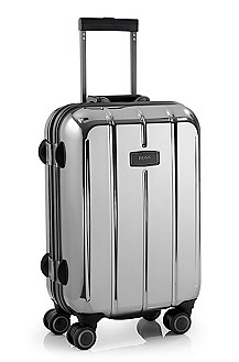 'Aquarius_Chrome' | Small Rolling Trolley Suitcase