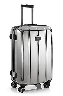 'Perseus_Chrome' | Large Rolling Trolley Suitcase