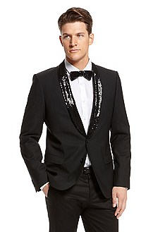 'Ankos' | Slim Fit, Wool-Blend Sequin Lapel Sport Coat