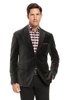 'Coastus' | Slim Fit, Cotton Velvet Sport Coat