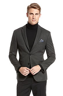 'Coastus' | Slim Fit, Contrast-Trim Lapel Sport Coat