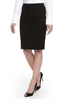 'Vilinia' | Stretch Wool Pencil Skirt