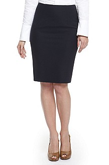 'Vilina' | Stretch Wool Pencil Skirt