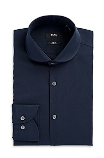 'Josh' | Slim Fit, Round Collar Dress Shirt