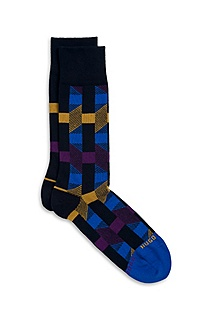 'RS Design US' | Stretch-Cotton Patterned Socks