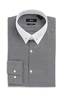 'Ivor' | Slim Fit, Piccadilly Collar Dress Shirt