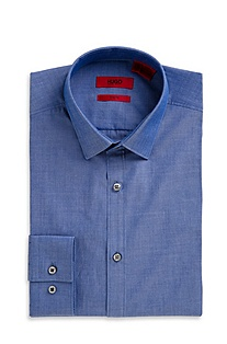 'Everett X' | Slim Fit, Cotton Chambray Dress Shirt