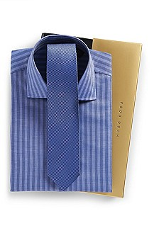 'Jaron' | Slim Fit Dress Shirt and Tie Gift Set