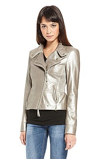 'Junna' |  Metallic Leather Jacket