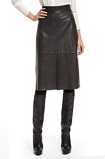 'Jadra' | Leather High-Waisted Skirt