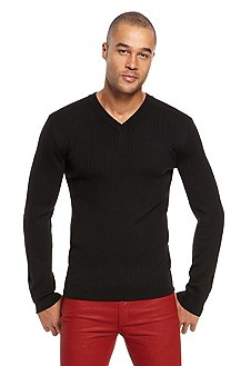 'Sagaro' | Virgin Wool V-Neck Sweater