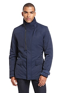 'Bimar' | Water-Repellant Asymmetrical Zipper Jacket