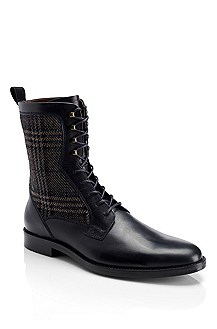 'Entio' | Leather Lace-Up Boot