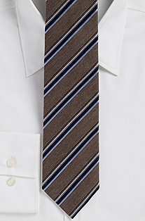 '7.5 cm Tie' | Regular Cotton-Silk Striped Tie