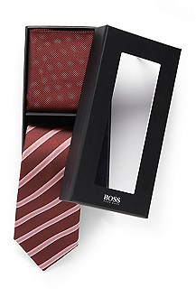 'Set Tie + Pocket Square' | Tie and Pocket Square Gift Set