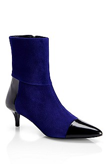 'Sumie' | Patent Leather and Suede Boot