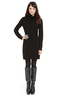 'Wissa' | Virgin Wool Turtleneck Dress