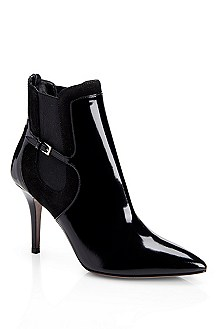 'Maurika' | Patent Leather Ankle Boot