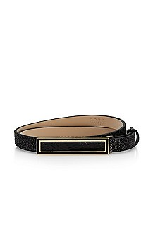 'Sharlize' | Stingray-Embossed Leather Belt
