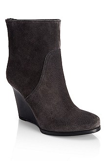 'Wailie' | Suede Wedge-Heel Ankle Boot