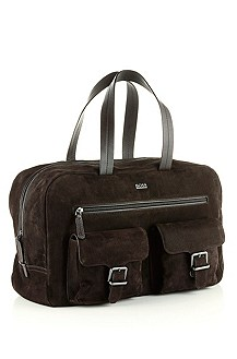 'Clime' | Leather Top Handle Weekender Bag