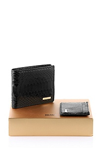 'Geobix' | Leather Wallet and Card Case Gift Set