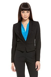 'Akaya' | Cropped One-Button blazer