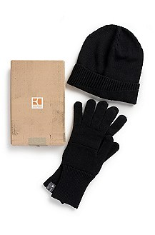 'Farbot' | Wool Blend Hat and Gloves Gift Set