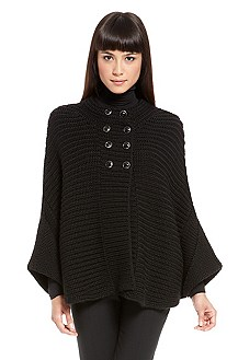 'Sartia' | Virgin Wool Poncho Sweater