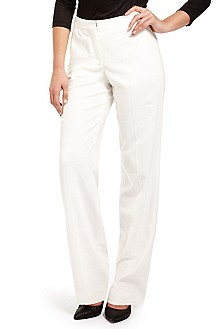 'Tirona' | Stretch-Wool Wide Leg Dress Pant