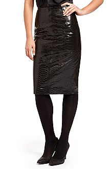 'Skirt' | Embossed Leather Skirt