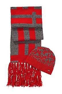 'Men-X' | Wool Hat and Scarf Gift Set