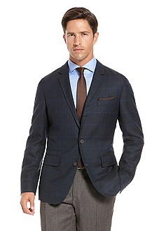 'Miles' | Slim Fit, Virgin Wool Sport Coat