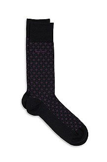'RS Design' | Stretch-Cotton Patterned Socks