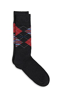 'RS Design' | Stretch Cotton Patterned Socks