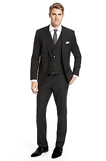 'The James/Sharp' | Modern Fit, Virgin Wool 3-Piece Suit
