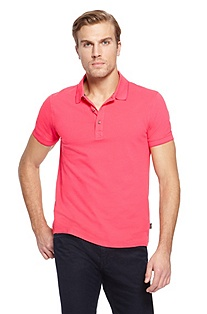 'Forli' | Slim Fit, Stretch Cotton Polo Shirt