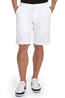 'Locci-D' | Regular Fit, Stretch Cotton Shorts