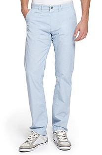 'Delon' | Regular Fit, Cotton Blend Casual Pants