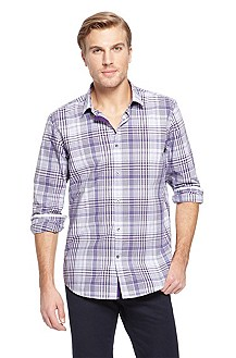'Lorenzo' | Regular Fit, Cotton Casual Shirt