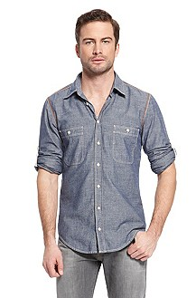 'Califoe' |  Regular Fit, Cotton Casual Shirt