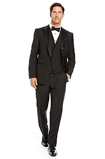 'Joy/Gala' | Modern Fit, Notch Lapel 3-Piece Tuxedo