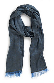 'Men-Z 384' | Silk-Linen Scarf