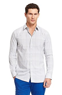 'Elisha' | Slim Fit, Cotton Casual Shirt