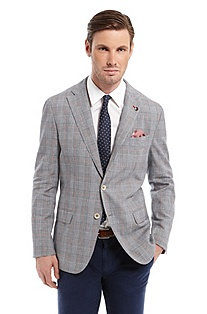 'Lanyon' | Modern Fit, Cotton-Linen Sport Coat