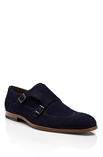 'Fistero' | Suede Monk Strap Dress Shoe