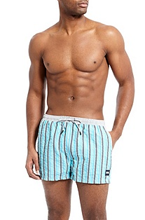'Goldeneye' | Striped Swim Trunks